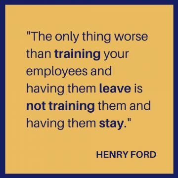 Henry Ford quote on training employees